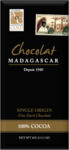 Chocolat Madagascar 100% Chocolate Bar 85g